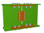Raccords à l'aide d'éclisses boulonnées dans les modules Assemblages II et Assemblages IV