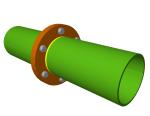 Raccords boulonnés bridés de deux pièces CHS ou RHS dans le module Assemblages V